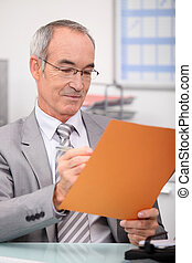 Grey haired teacher