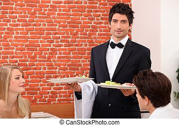 waiter on service