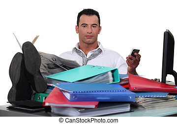 Unproductive office worker