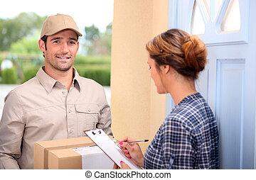 man delivering pallet