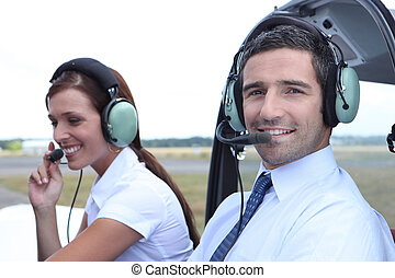 Airline pilot and co-pilot