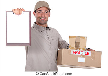 Man delivering parcel