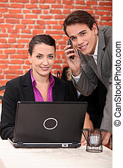 Co-workers in a restaurant