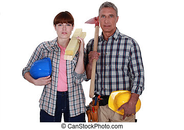 Portrait of a team of tradespeople