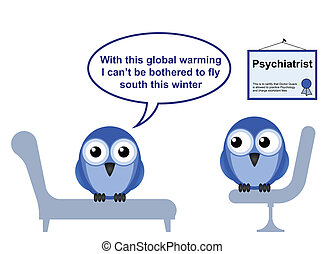 global warming - On the Psychiatric couch and global warming