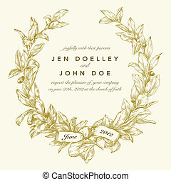 Vector Gold Wreath Background. Easy to edit. Perfect for...