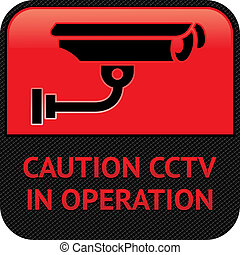 CCTV pictogram, video surveillance, symbol security camera -...