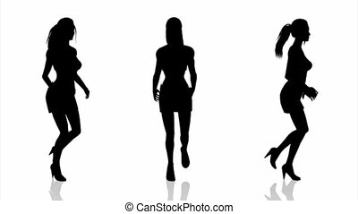 silhouette of woman - running woman's silhouette