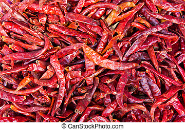 pile of dried chilies