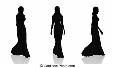 silhouette of bride - silhouette of woman