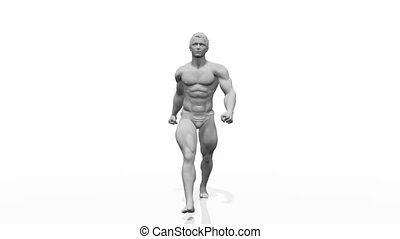 human body - walking body builder