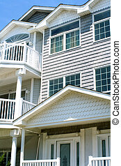 Vacation Condo Exteriors - Closeup exterior view of new...