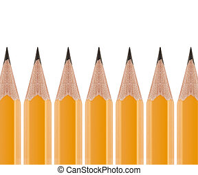Sharpened pencil - Sharpened Yellow pencil in group of...