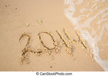 2014 on sand beach