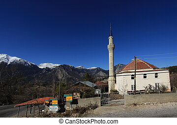 Antalya  - Mosque in the Taurus Mountains