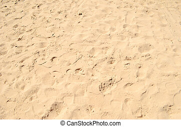 sand - sea sand with footprints
