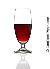 wine glass isolated - wine glass and red wine isolated