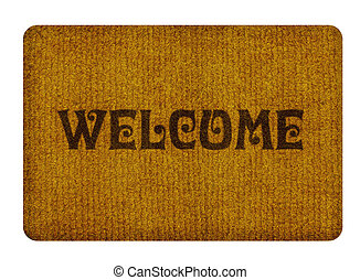 welcome cleaning foot carpet - Brown welcome carpet, welcome...