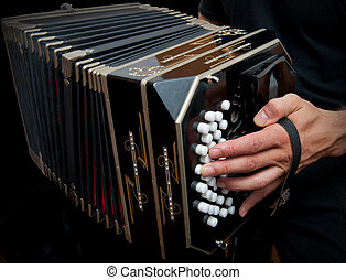Playing traditional bandoneon - Playing the bandoneon,...