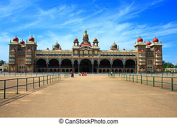 Beautiful Mysore Palace - A mysore palace building in an...