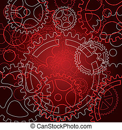 Abstract gear background - Abstract background with gears...