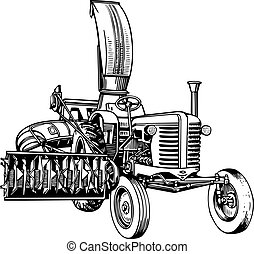 Farmers tractor - Special farmers tractor isolated on white...