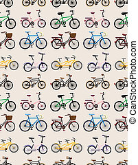 seamless bicycle pattern