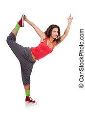 dancer posing like a ballerina