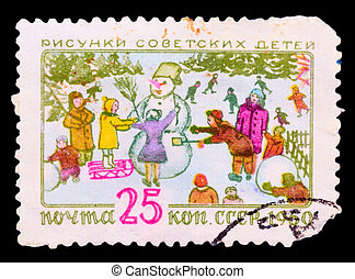 Postage Stamp - USSR-CIRCA 1960: A post stamp printed in...