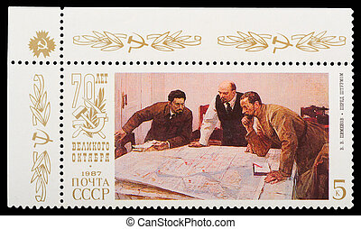 Postage Stamp - USSR - CIRCA 1987: A stamp printed in USSR...
