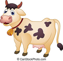 Cow cartoon - Vctor illustration of cow cartoon