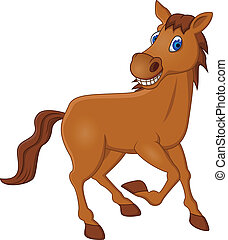 Horse cartoon - Vector illustration of horse cartoon running