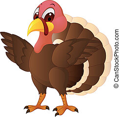 Turkey CArtoon  - Vector Illustration Of Turkey Cartoon