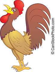 Rooster Cartoon - Vector Illustration Of Rooster Cartoon