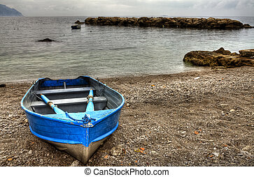 Boat in beach of Conca dei Marini (SA) Italy