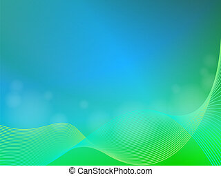 Green blue abstract light background with wave - EPS 10...