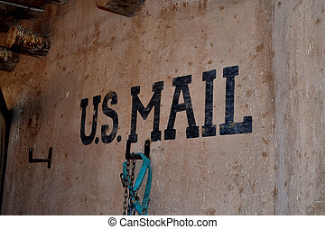 US Mail - Shabby postal office in a remote place