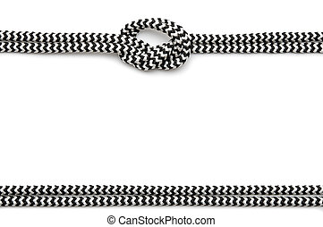 frame made from rope isolated on white
