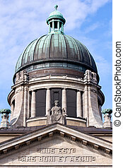 Facade and Dome of the Supreme Hanseatic Court of Hamburg, Germany