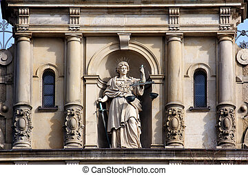 Lady Justice with Scale and Sword - Justitia, Lady Justice,...