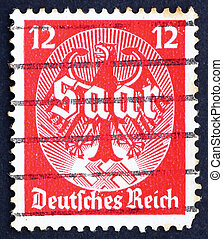 Postage stamp Germany 1934 Saar plebiscite - GERMANY - CIRCA...
