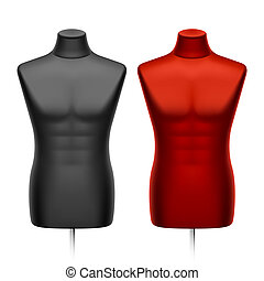 Male tailors dummy, mannequin. Vector illustration.