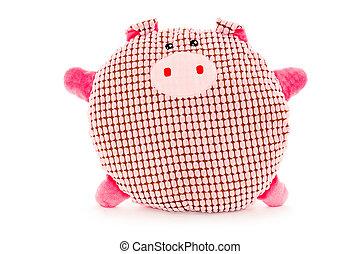 Funny hand made plush pig - Funny hand made plush toy -...