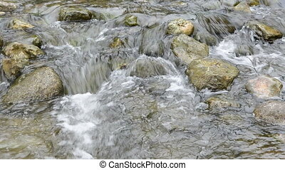 stones in the river and water