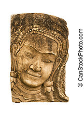 Sandstone carvings face woman2 - Sandstone carvings face...