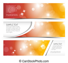 Set of hot summer horizontal banners