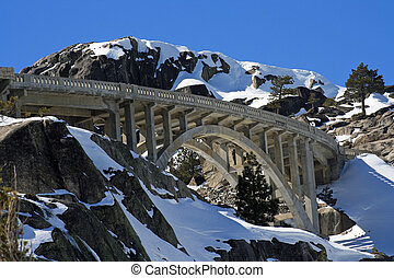 Donner Summit Bridge - Bridge Above Donner Lake Highway 40...