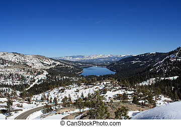 Donner Lake and Mountains - Donner Lake and Surrounding...