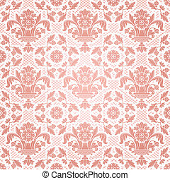 Lace background, pink ornamental flowers