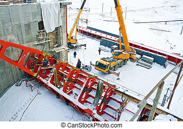Belarus Grodno The construction of hydropower plants -...